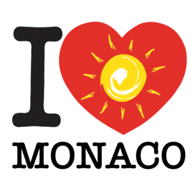 Sticker I LOVE le soleil de MONACO
