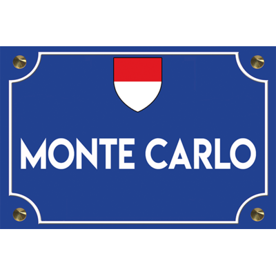 Sticker plaque de rue, MONTE CARLO