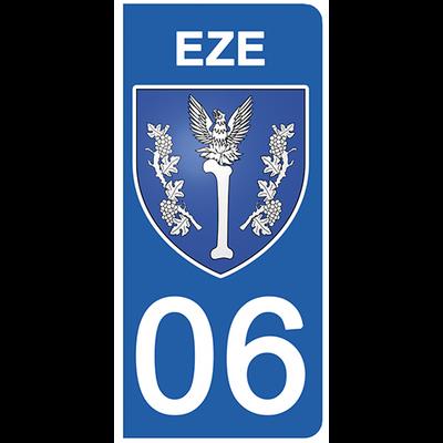 2 stickers pour plaque d'immatriculation pour Auto, 06 EZE