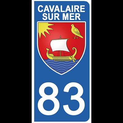 2 stickers pour plaque d'immatriculation pour Auto, 83 CAVALAIRE