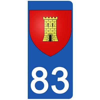 2 stickers pour plaque d'immatriculation pour Auto, 83 Var, Saint Maxime