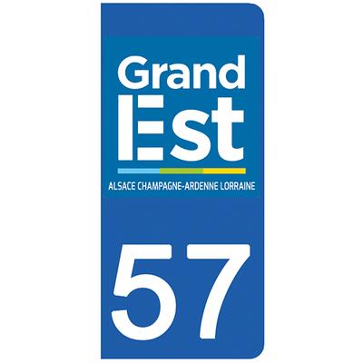 2 stickers pour plaque d'immatriculation pour Auto, 57 Moselle