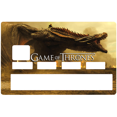 Sticker pour carte bancaire, Tribute to Game of Thrones, Edition limitée 100 ex.