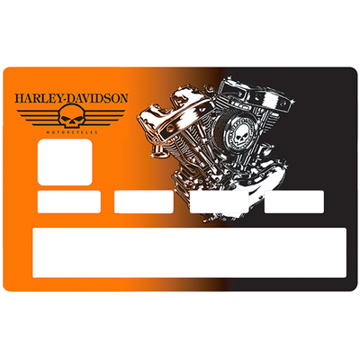 Sticker pour carte bancaire, hommage à Harley davidson, Edition limitée 100 ex