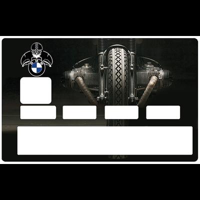 Sticker pour carte bancaire, hommage aux Moto BMW