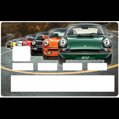 Sticker pour carte bancaire, hommage a la Porsche 911 collection