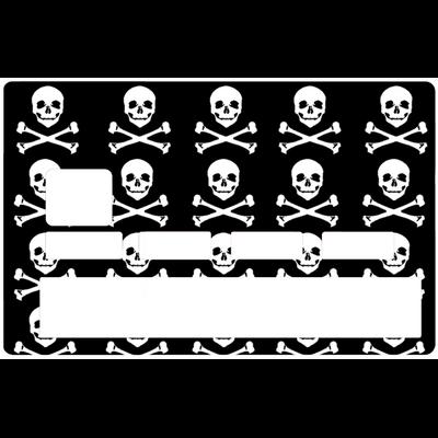 Sticker pour carte bancaire, Pirate