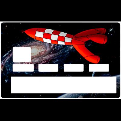 Sticker pour carte bancaire, la fusée, édition limitée 100 ex