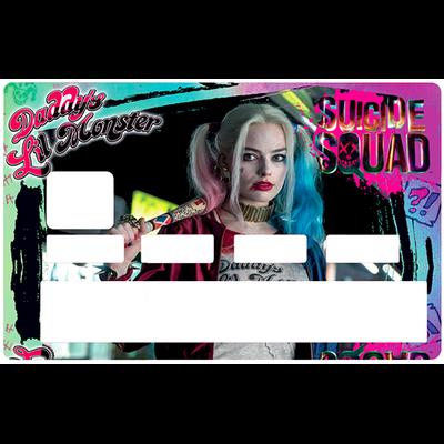 Sticker pour carte bancaire, Tribute to harley Quinn, Suicide Squad, édition limitée 100 ex