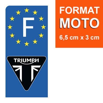 1 sticker pour plaque d'immatriculation MOTO, TRIUMPH