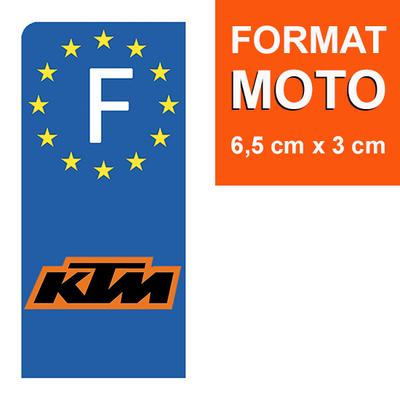1 sticker pour plaque d'immatriculation MOTO, KTM