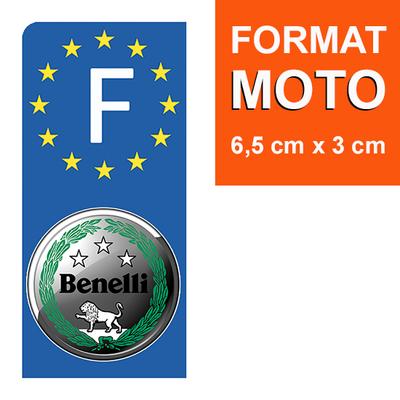 1 sticker pour plaque d'immatriculation MOTO, BENELLI