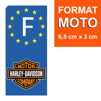 harley-davidson-sticker-plaque-immatriculation-moto-GAUCHE-france