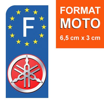 1 sticker pour plaque d'immatriculation MOTO, YAMAHA