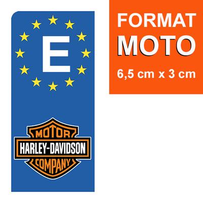 1 sticker pour plaque d'immatriculation MOTO, espagne, HARLEY DAVIDSON