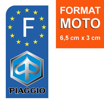 1 sticker pour plaque d'immatriculation MOTO, Piaggio