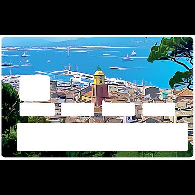 Sticker pour carte bancaire, Saint tropez