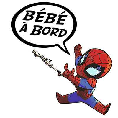 Sticker Bébé à bord ! Spiderman