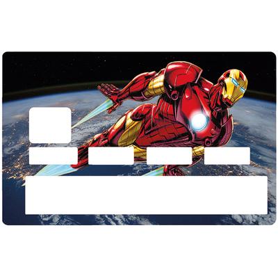 Sticker pour carte bancaire, hommage à IRON MAN original