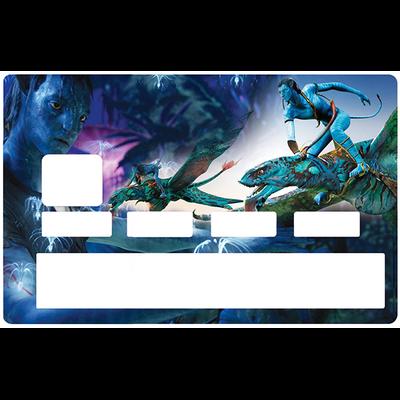 Sticker pour carte bancaire, hommage à AVATAR