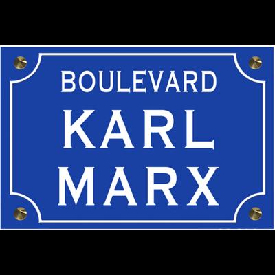 Sticker nom de rue, KARL MARX