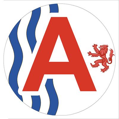 Sticker, Disque A, jeune conducteur, région Nouvelle Aquitaine