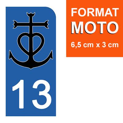 1 sticker pour plaque d'immatriculation MOTO , 13 CAMARGUE