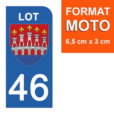 1 sticker pour plaque d'immatriculation MOTO , 46 LOT