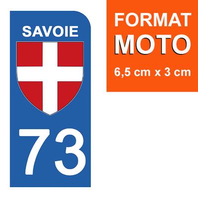 1 sticker pour plaque d'immatriculation MOTO , 73 SAVOIE