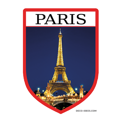 Sticker, Blason de PARIS et la tour eiffel