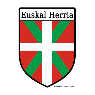 Sticker, Blason Le drapeau basque ou ikurrina