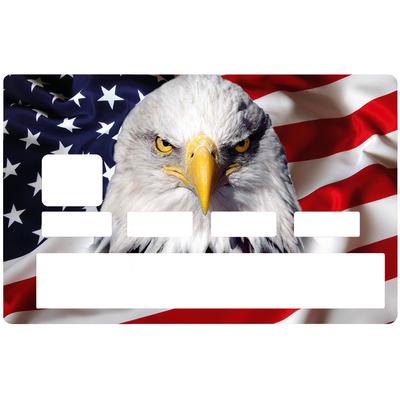 Sticker pour carte bancaire, l'aigle Americain