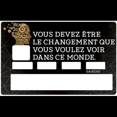 Sticker pour carte bancaire, Change pour changer le monde