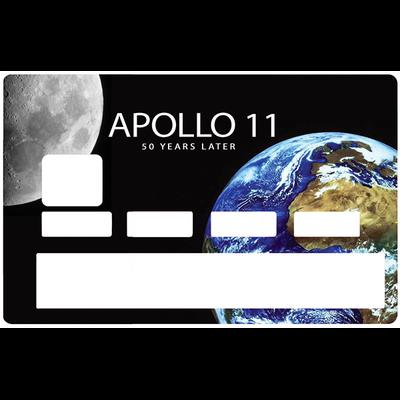 Sticker pour carte bancaire, APPOLO 11, 50 ans