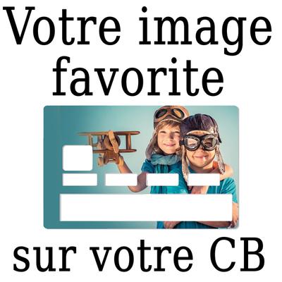 Stickers pour carte de crédit personnalisé avec votre image préférée
