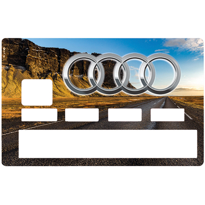 Sticker pour carte bancaire, Tribute to AUDI