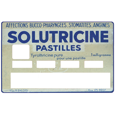 Sticker pour carte bancaire, Tribute to Solutricine