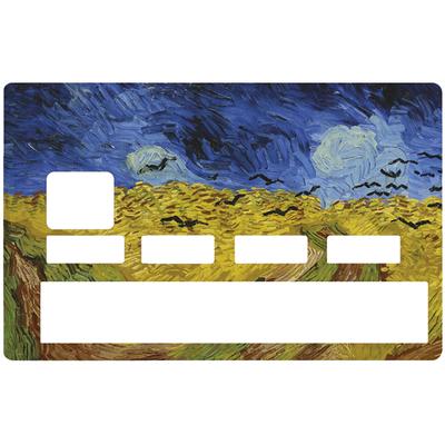 Sticker pour carte bancaire, Van Gogh, les champs de blé