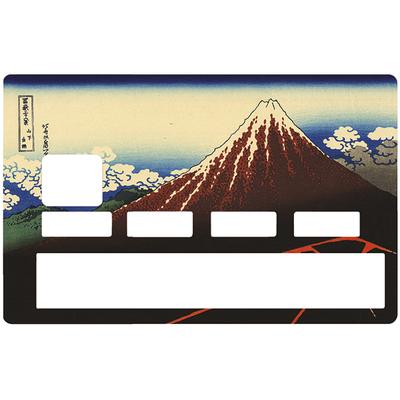 Sticker pour carte bancaire, Orage sous le sommet, HOKUSAI