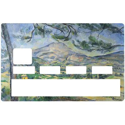 Sticker pour carte bancaire, la Sainte Victoire CEZANNE