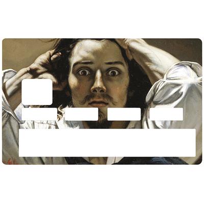 Sticker pour carte bancaire, le désespéré de GUSTAVE COURBET