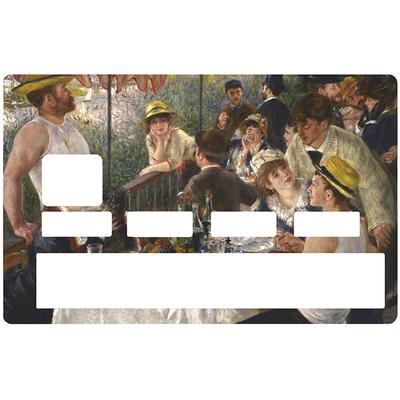 Sticker pour carte bancaire, les canotiers de RENOIR
