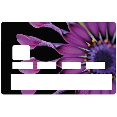 Sticker pour carte bancaire, Fleur méduse