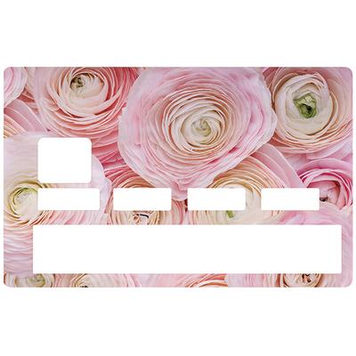 Sticker pour carte bancaire, Fleur Pivoine
