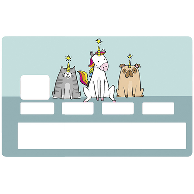 Sticker pour carte bancaire, Les licornes existent !