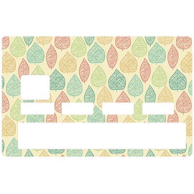 Sticker pour carte bancaire, Feuille d'automne