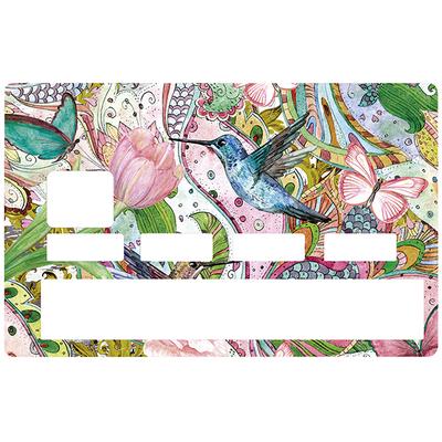 Sticker pour carte bancaire, COLIBRI