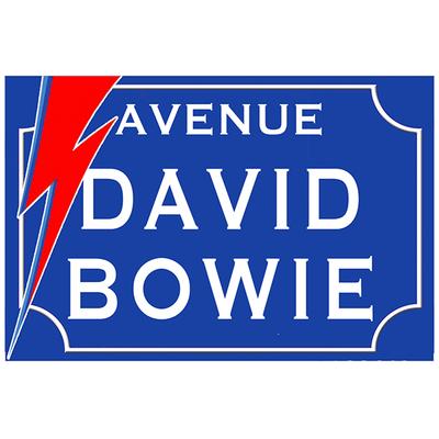 Sticker nom de rue, David Bowie