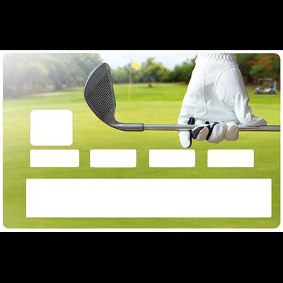 Sticker pour carte bancaire, Golf