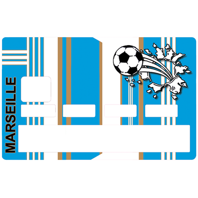 Sticker pour carte bancaire, Football, Marseille